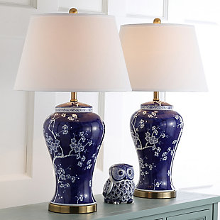 Spring Blossom Table Lamp (Set of 2), Navy&White, rollover