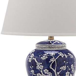 Spring Blossom Table Lamp (Set of 2), Navy&White, large