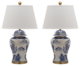 Ceramic Shanghai Ginger Jar Table Lamp (Set of 2), , large