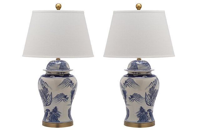 Ceramic Shanghai Ginger Jar Table Lamp (Set of 2), , large