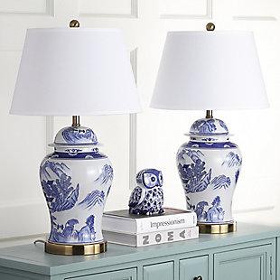 Ceramic Shanghai Ginger Jar Table Lamp (Set of 2), , rollover