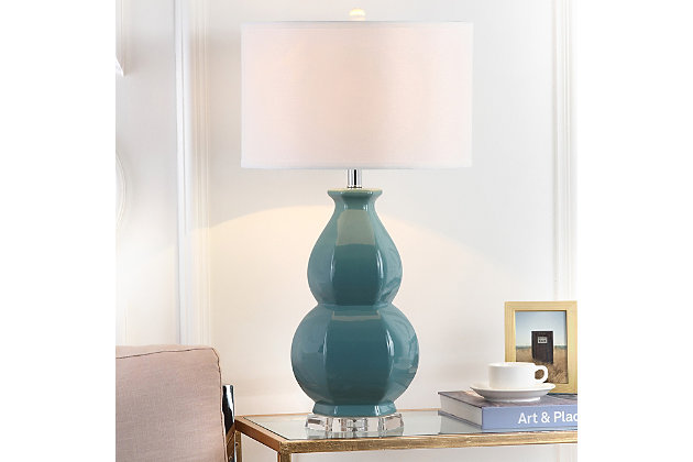 Gourd Shaped Table Lamp, Egg Blue, large