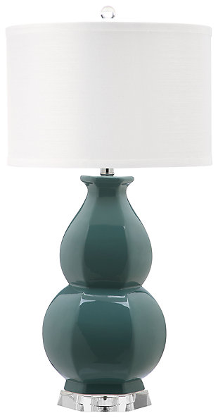 Gourd Shaped Table Lamp, Egg Blue, large