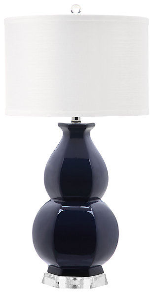 Gourd Shaped Table Lamp, Navy, large