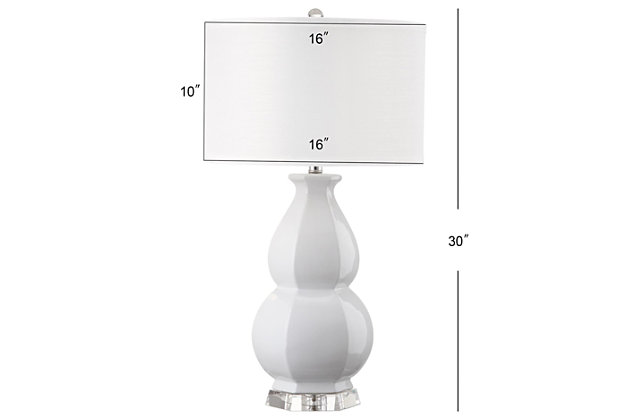 Gourd Shaped Table Lamp, White, large