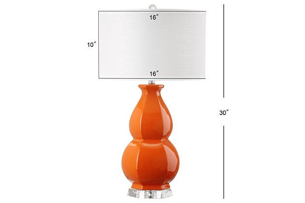 Gourd Shaped Table Lamp, Orange, large