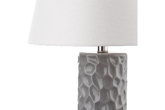 Textured Table Lamp (Set of 2), Gray, large