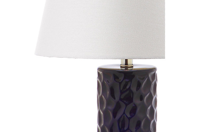 Textured Table Lamp (Set of 2), Navy, large