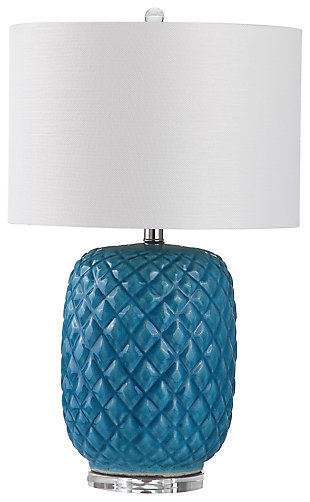 Ceramic Pineapple Shaped Table Lamp, , large