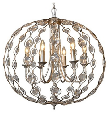 Ashley Accents Crystal Drop Chandelier Home