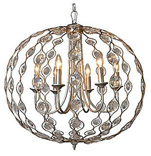 Home Accents Crystal Drop Chandelier, , large