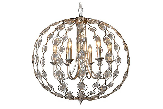 Home Accents Crystal Drop Chandelier, ...