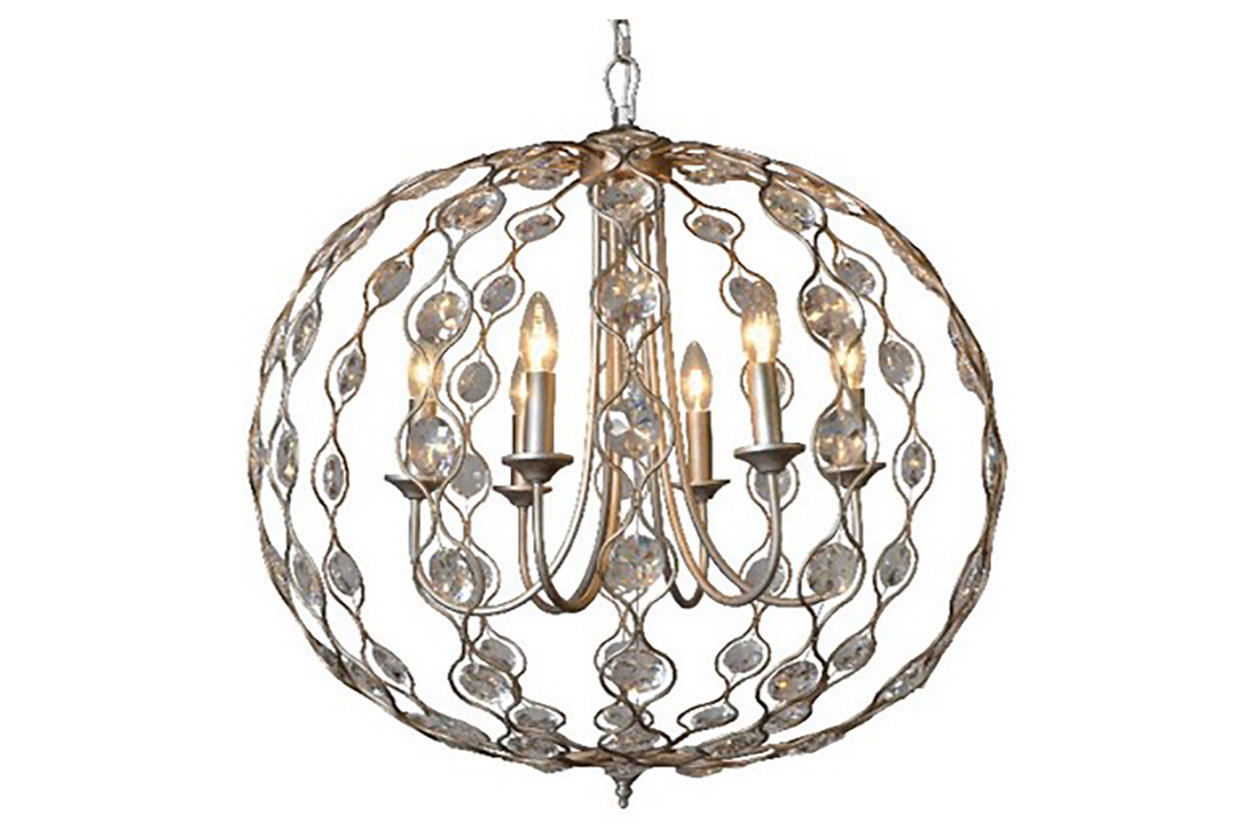 Chandeliers elegant lighting ashley furniture homestore home accents crystal drop chandelier arubaitofo Images