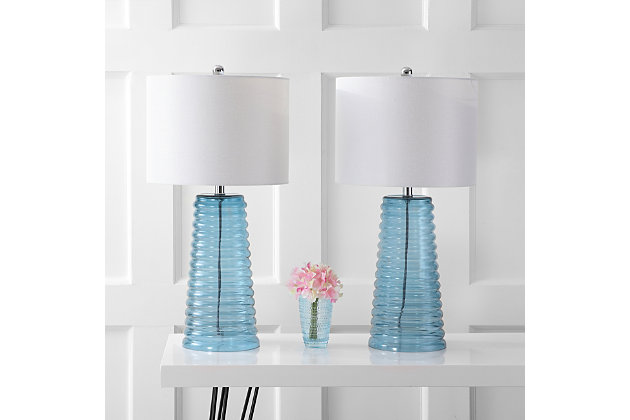 Glass Yantley Table Lamp (Set of 2), , large