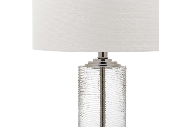 Glass Contemporary Table Lamp (Set of 2), , large