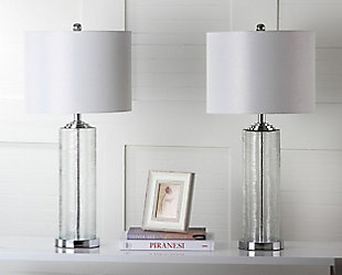 Glass Contemporary Table Lamp (Set of 2), , rollover