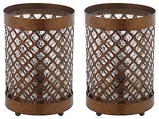 Metal Hurricane Lamp (Set of 2), , large