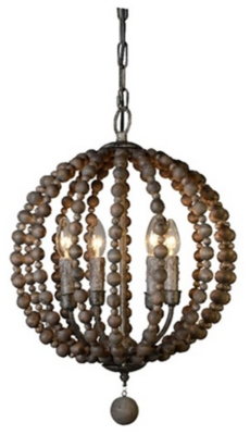 Ashley Home Accents Pendant Light, Dark Brown