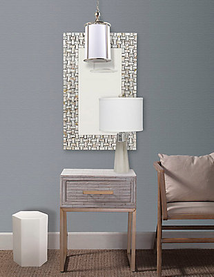 Home Accents Capiz Framed Mirror, , rollover