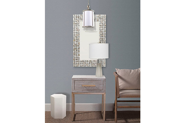 Home Accents Capiz Framed Mirror, , large
