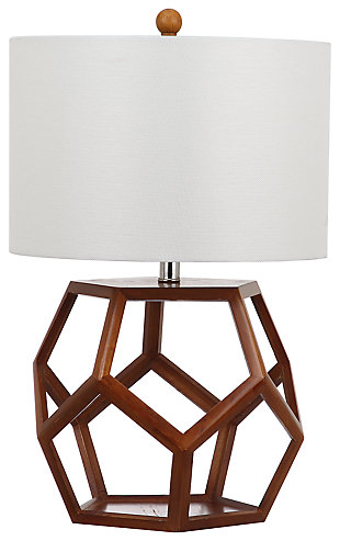 Honeycomb Shaped Wooden Table Lamp, , large