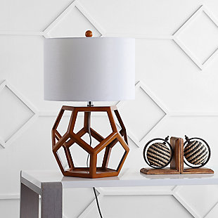 Honeycomb Shaped Wooden Table Lamp, , rollover