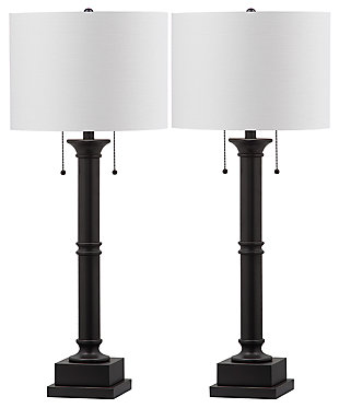 Metal Column Table Lamp (Set of 2), , large