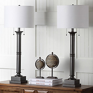 Metal Column Table Lamp (Set of 2), , rollover