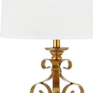 Antique Gold Finished Sculpture Table Lamp (Set of 2), , large