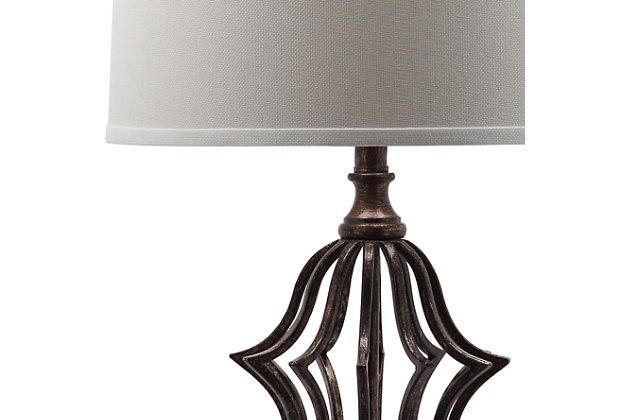 Bronze Finished Sculpture Table Lamp (Set of 2), , large
