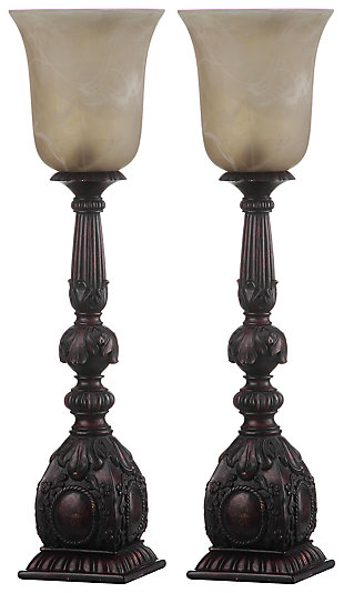 Antique Finished Arifact Table Lamp (Set of 2), , large