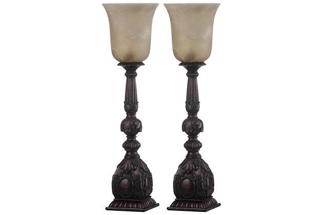 Antique Finished Arifact Table Lamp (Set of 2), , large