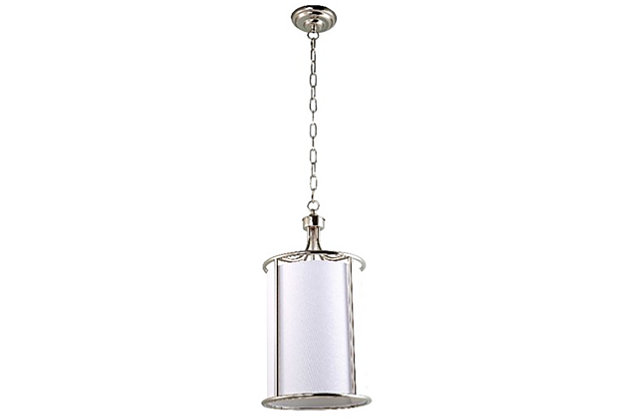 Nickel Finish Home Accents Pendant Light by Ashley HomeStore