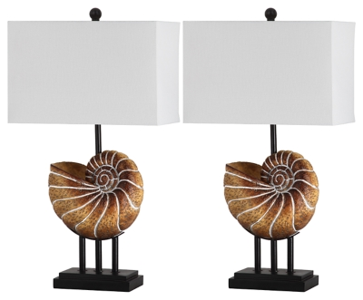 Shell Shaped Table Lamp (Set of 2), , large