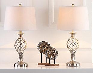 Urn Shaped Lattice Table Lamp (Set of 2), , large