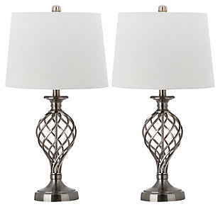 Urn Shaped Lattice Table Lamp (Set of 2), , large