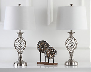 Urn Shaped Lattice Table Lamp (Set of 2), , rollover