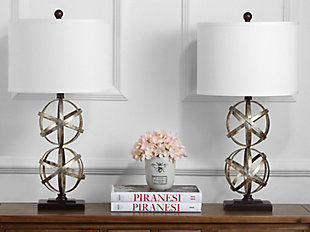 Double Sphere Shaped Table Lamp (Set of 2), , rollover