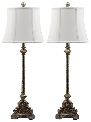 Antique Silver Finished Table Lamp (Set of 2), , large