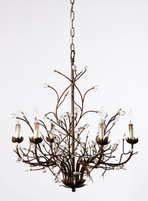 Ashley Accents Light Iron Branch Chandelier Home