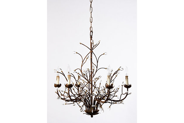 branch chandelier lighting. Home Accents 6-Light Iron Branch Chandelier, , Large Chandelier Lighting