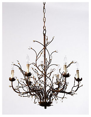 Chandeliers elegant lighting ashley furniture homestore home accents 6 light iron branch chandelier aloadofball Gallery