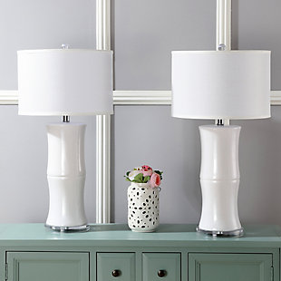 Ceramic Bamboo Table Lamp (Set of 2), , rollover