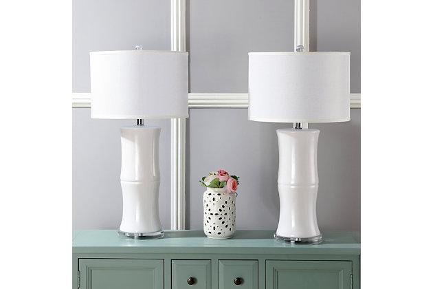 Ceramic Bamboo Table Lamp (Set of 2), , large