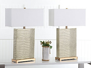 Faux Alligator Table Lamp (Set of 2), , rollover
