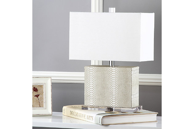 Faux Snakeskin Table Lamp, , large