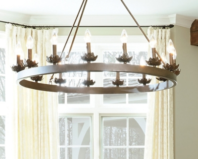 Ashley Accents Light Ring Chandelier Home