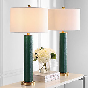 Faux Alligator Table Lamp (Set of 2), Emerald, large