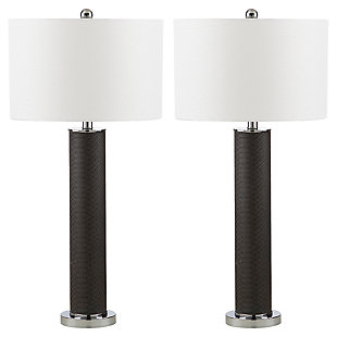 Faux Snakeskin Table Lamp (Set of 2), Gray, large