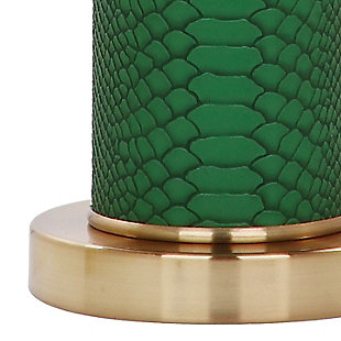 Faux Snakeskin Table Lamp (Set of 2), Emerald, large